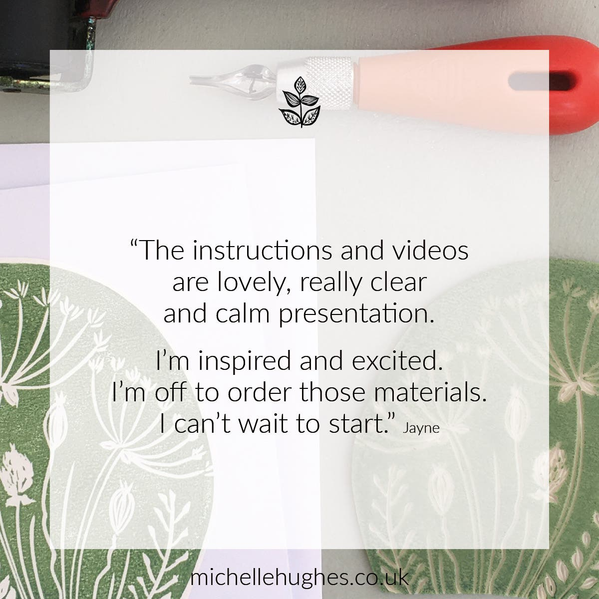 The instructions and videos  are lovely, really clear  and calm presentation.