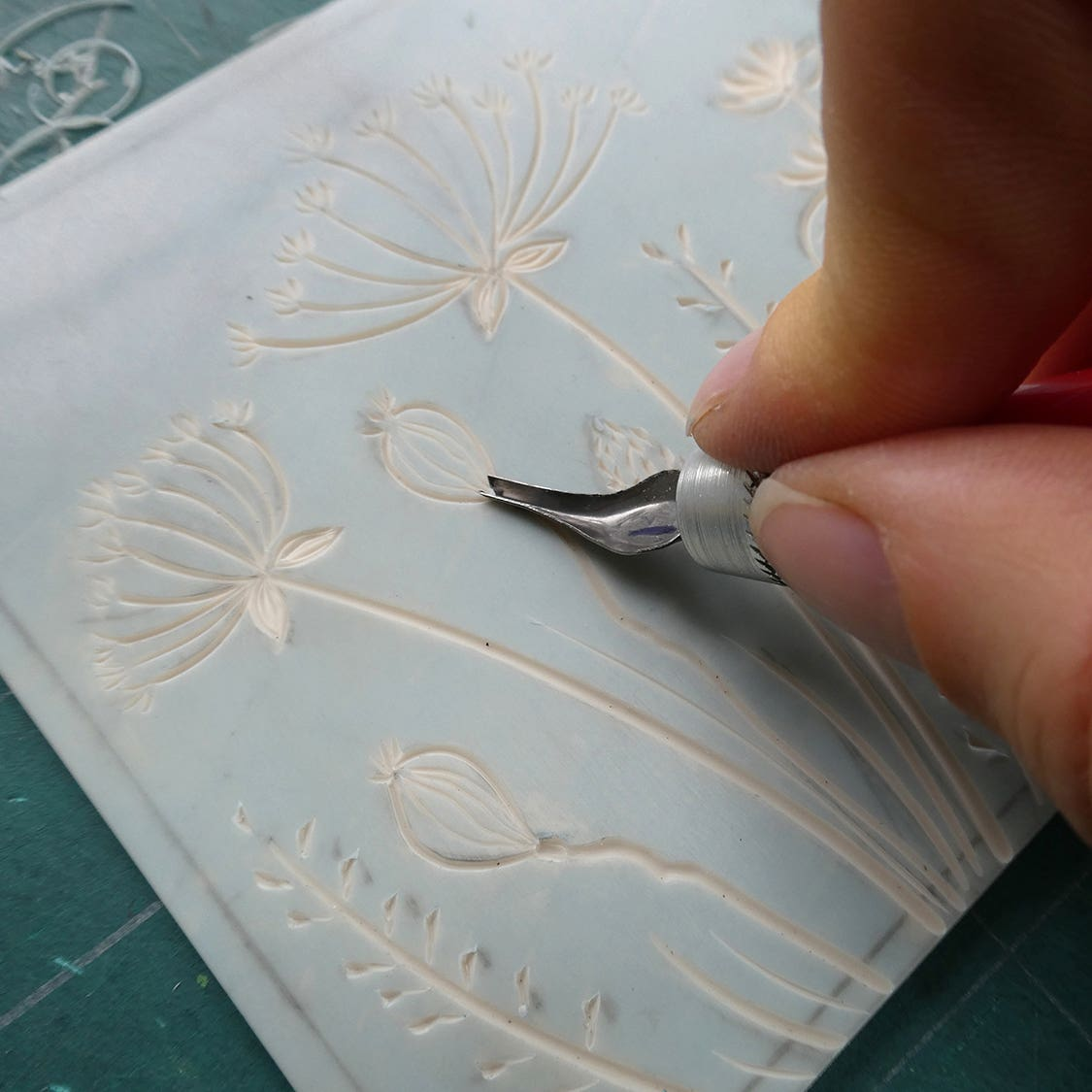 Learn how to carve lino using beginners tools.
