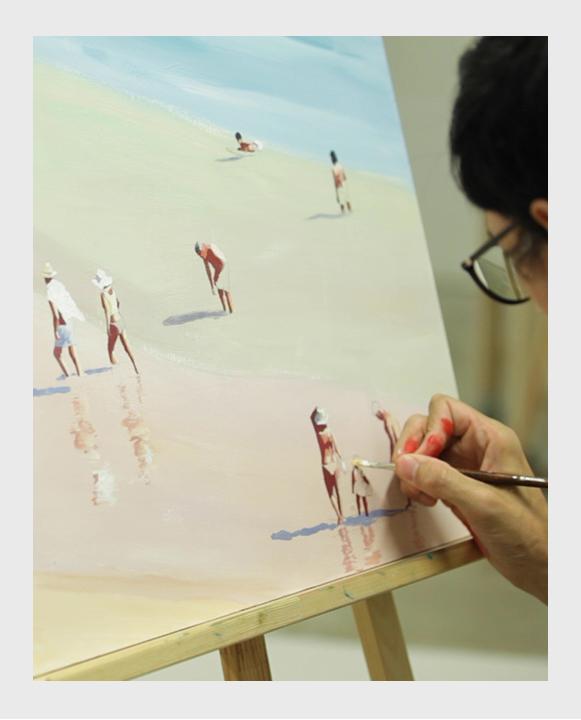Obra final del curso de pintura de playas