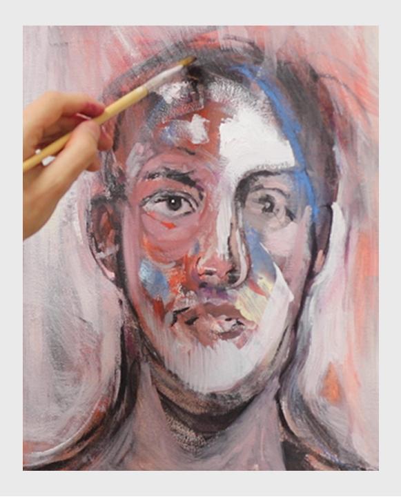 Joan Lalucat Pintando Retrato