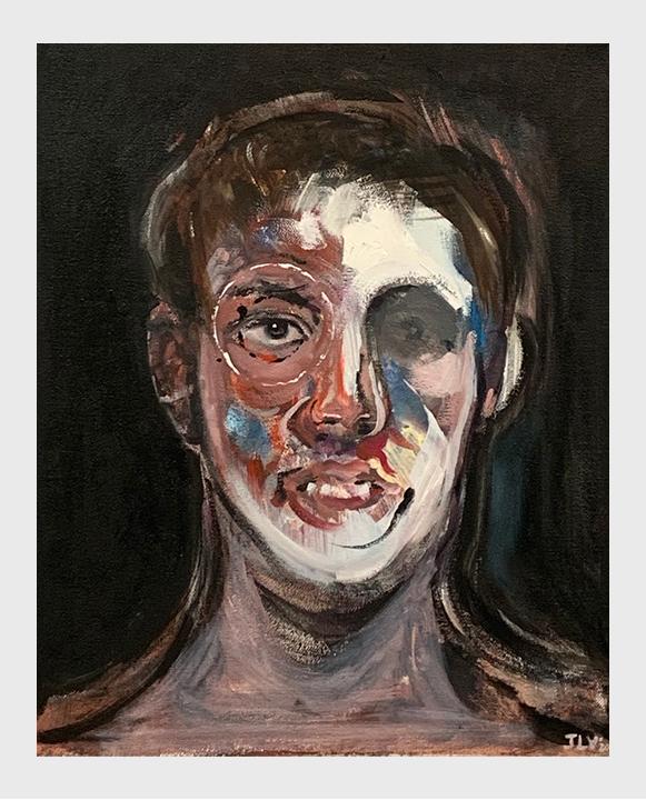 Retrato pintado por Joan Lalucat