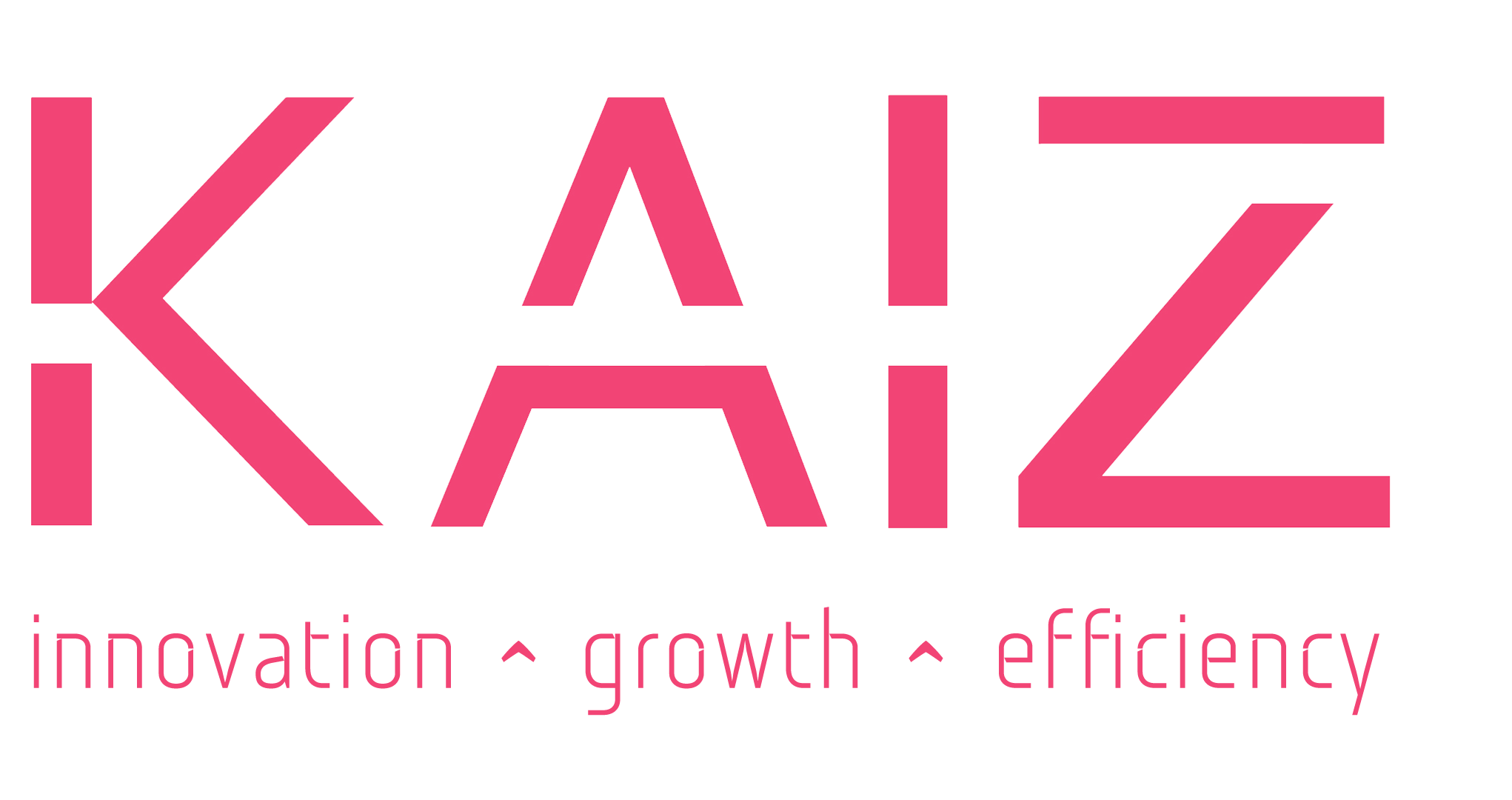 KAIZ Consulting logo with the word KAIZ followed by innovation, growth and efficiency