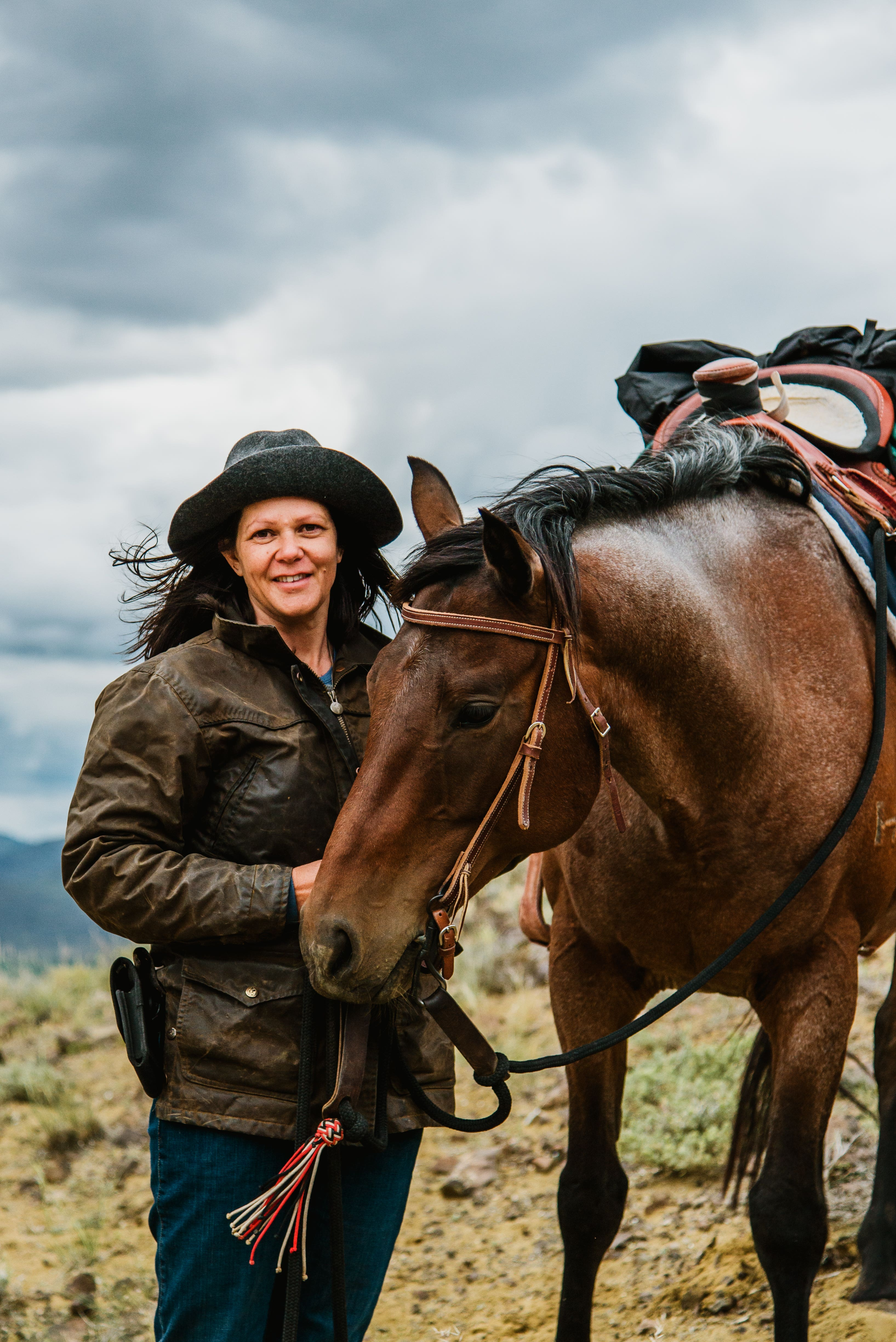 Nicole Masters with her horse Flynn
