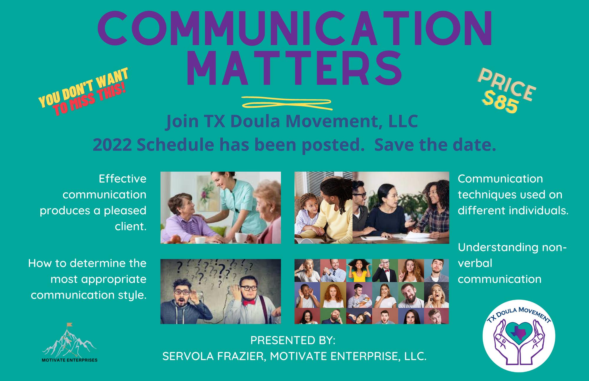 Communication Matters Workshop