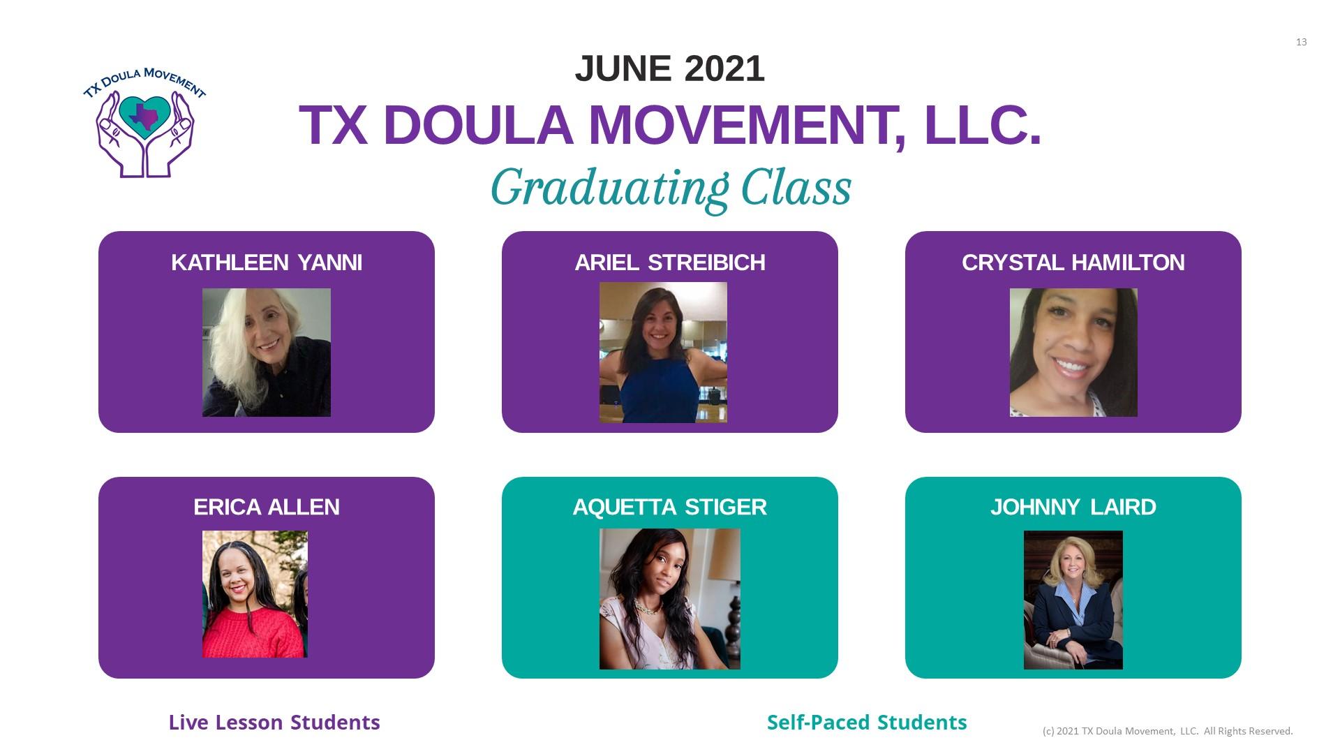 TXDM June Class of 2021