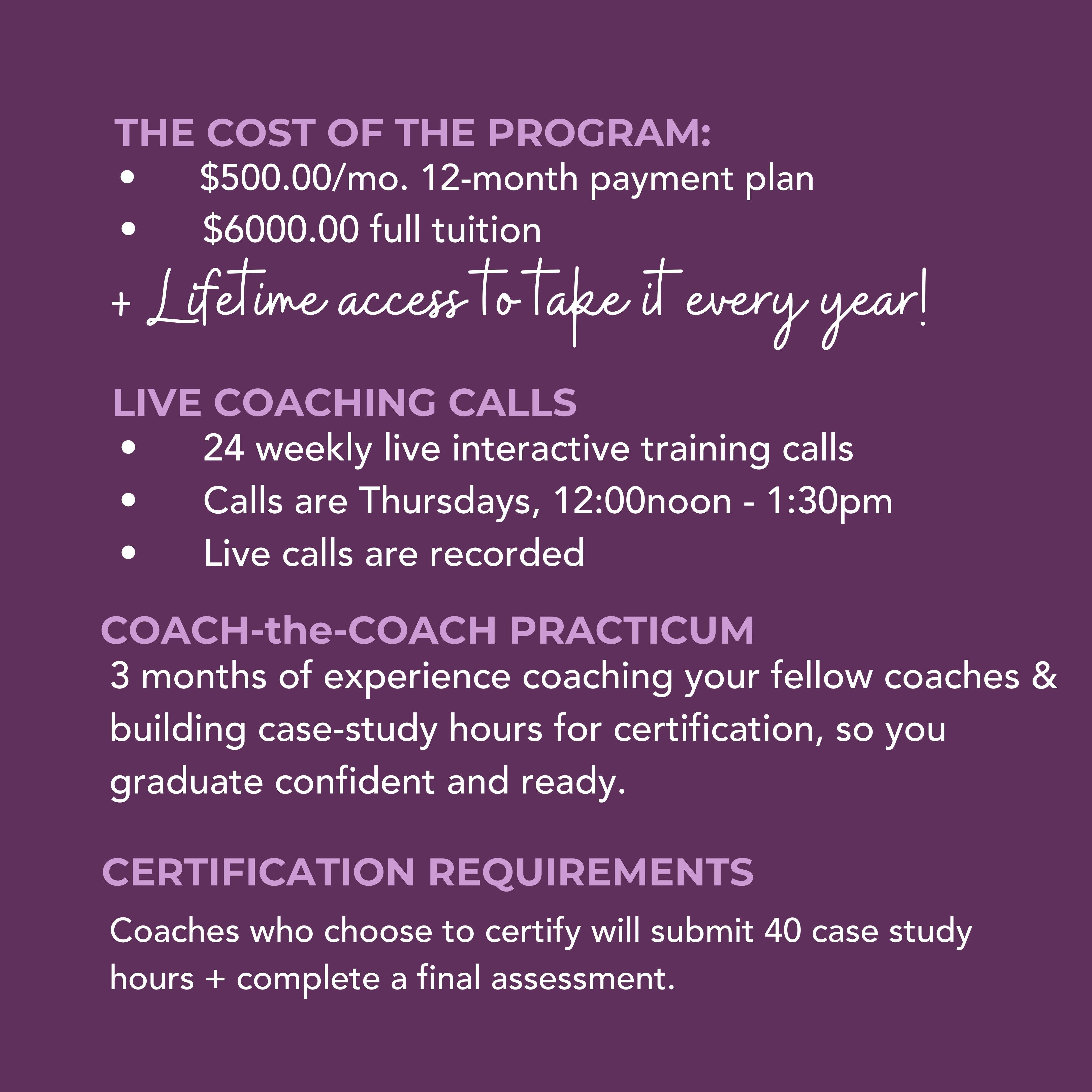Coach Mode Program Details