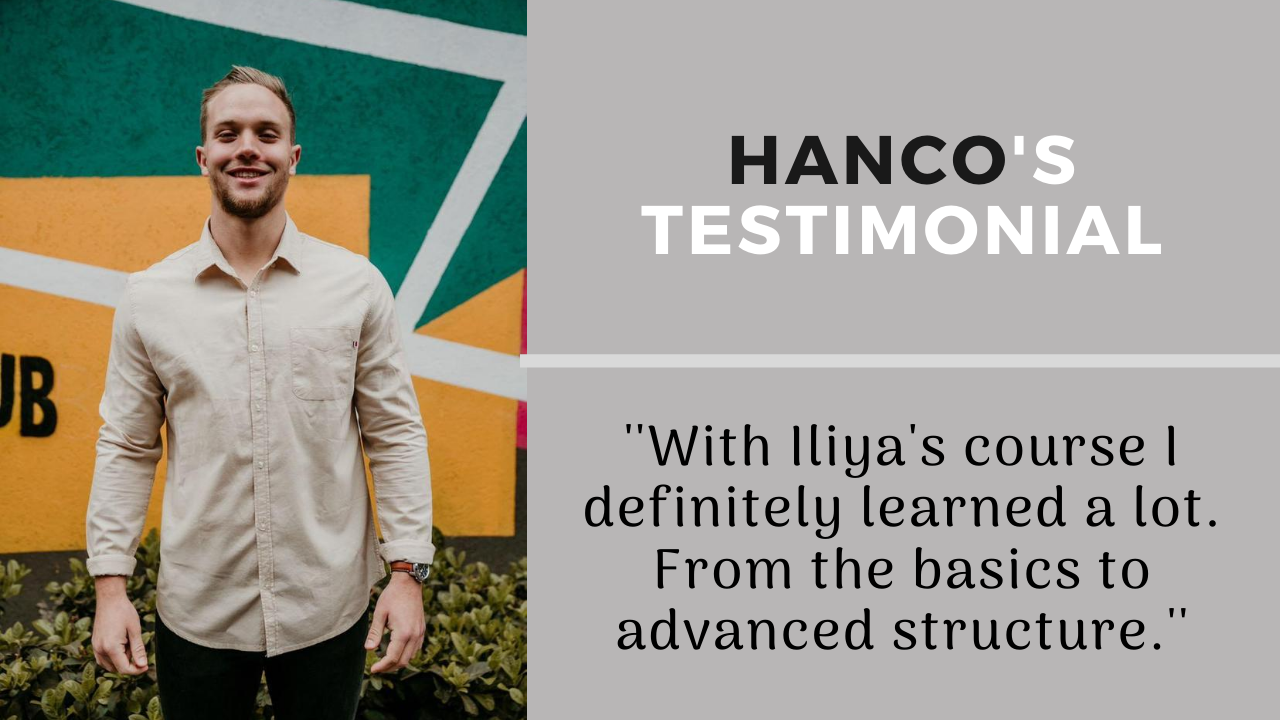 Hanco Kaufmann's Testimonial of Trading Fanatic