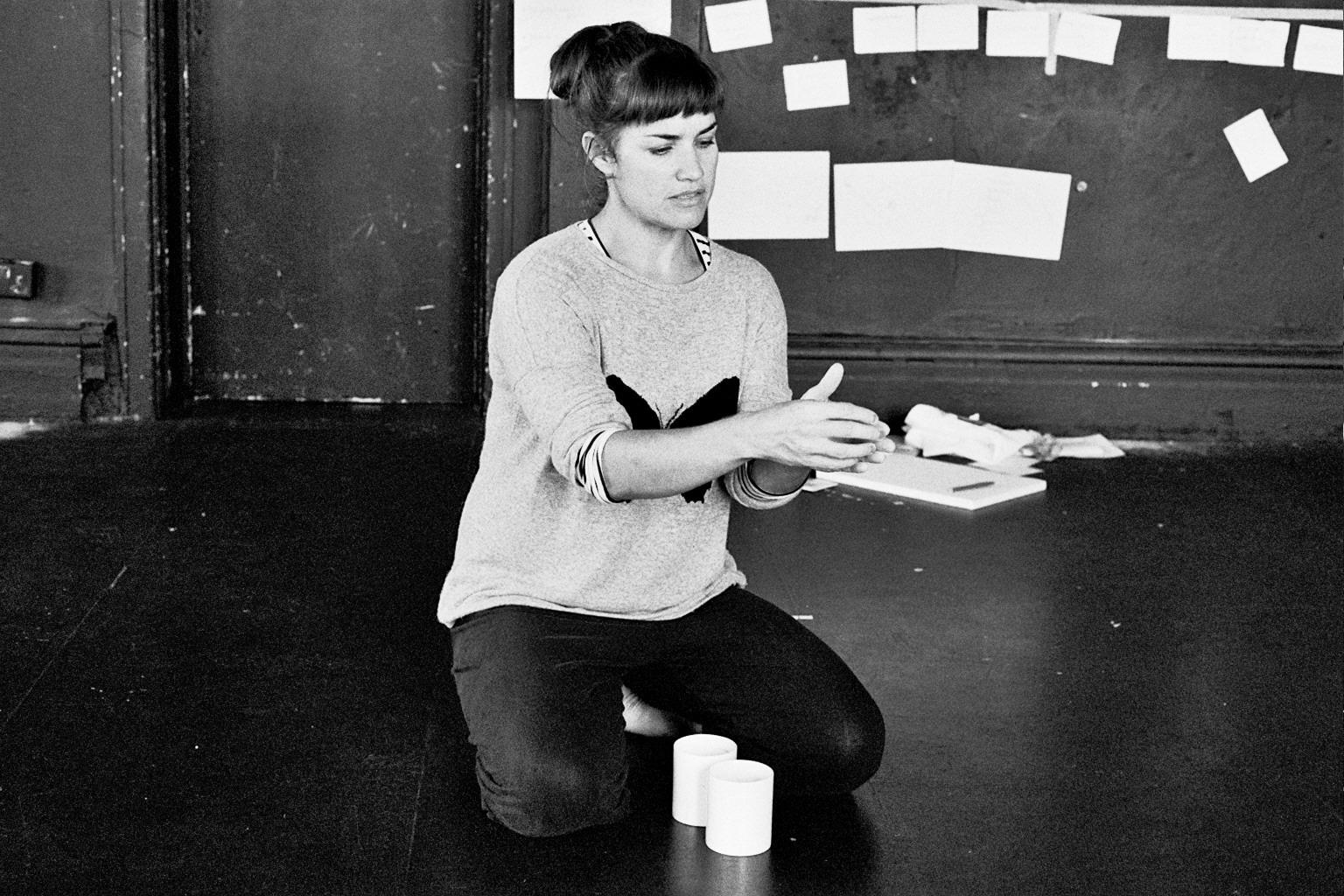 Rachel in rehearsals, photo by Greg Allum