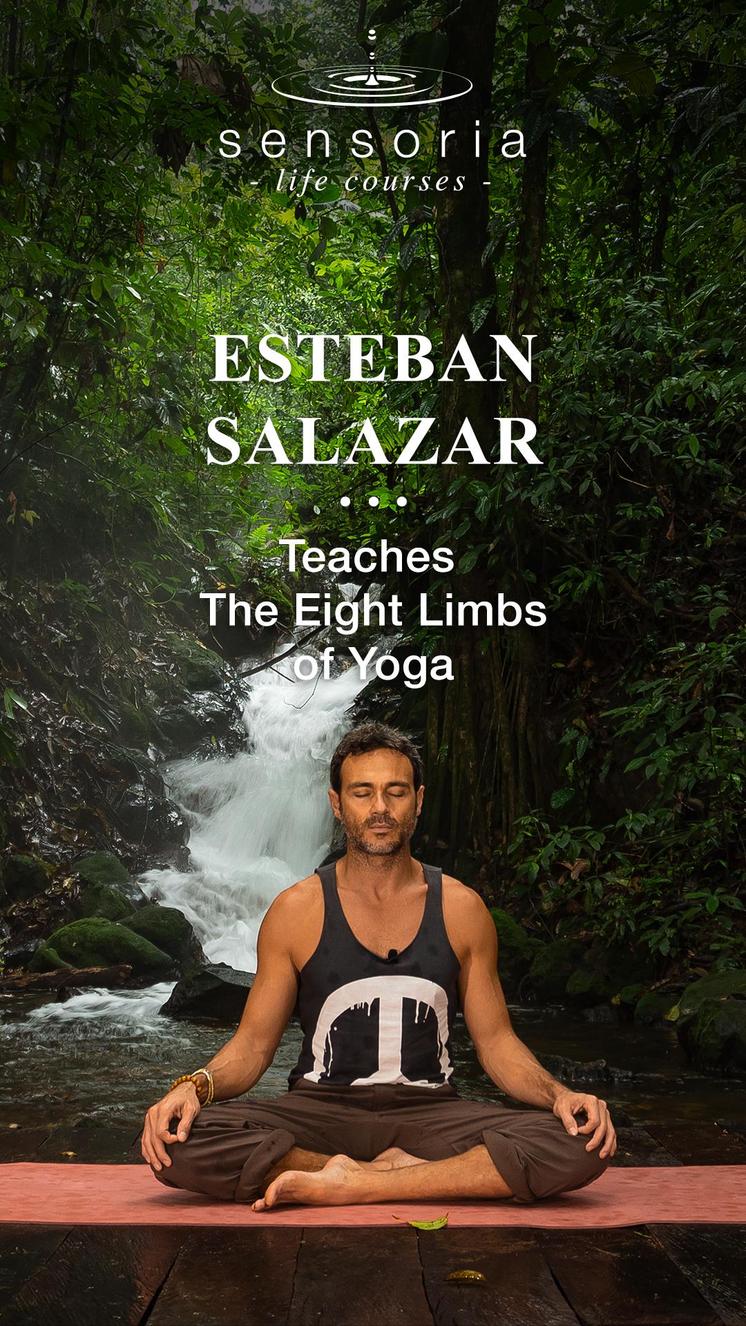 Esteban Salazar meditating, Dhyana