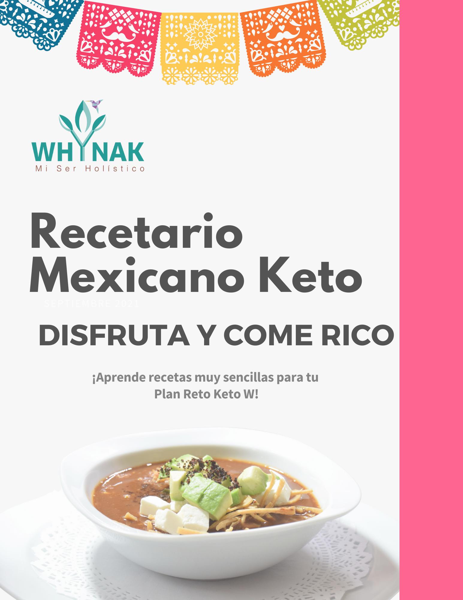 Compra nuestro Recetario Mexicano Keto W