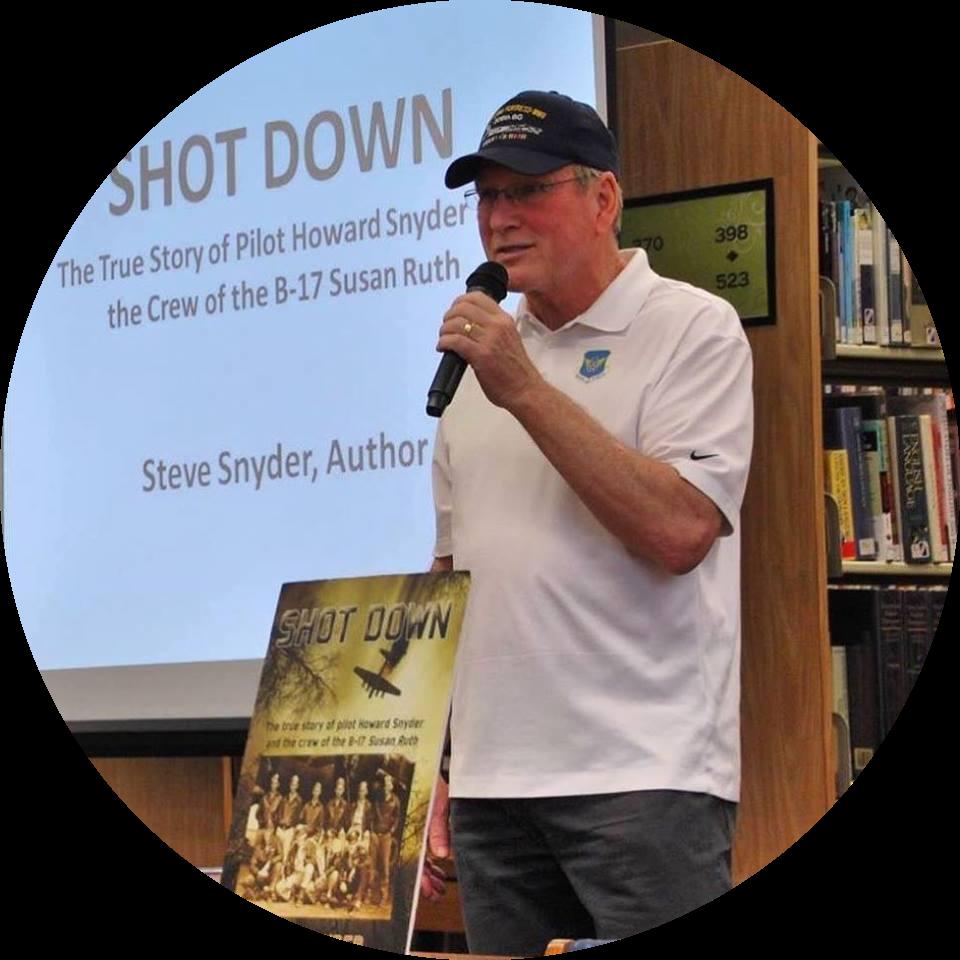 """Steve Snyder, Author of the multi award-winning """"Shot Down"""""""