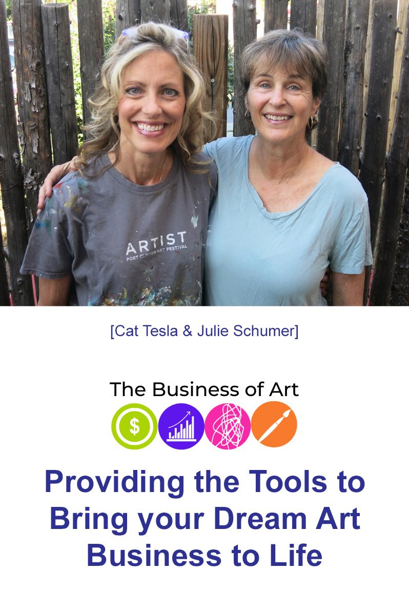 Artists Cat Tesla and Julie Schumer