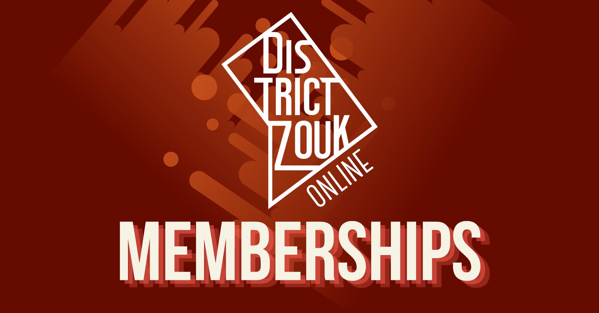 District Zouk Logo with Memberships written below