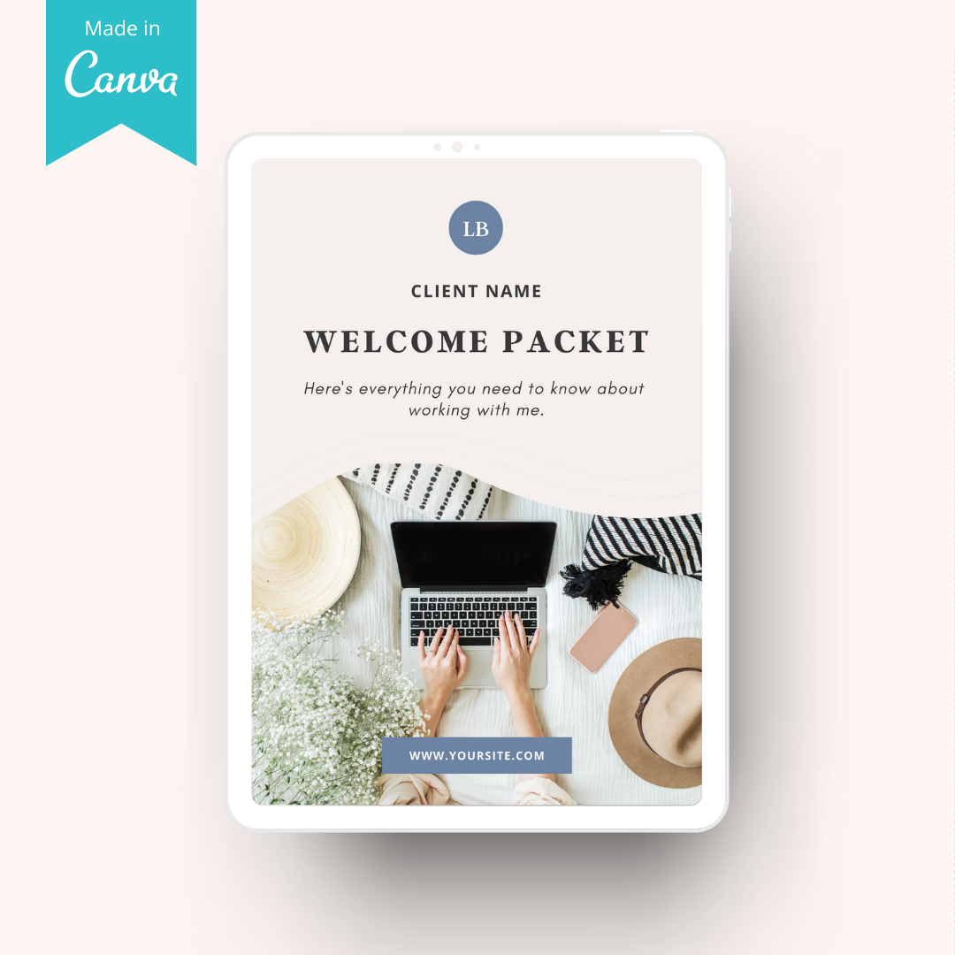 client welcome packet cover