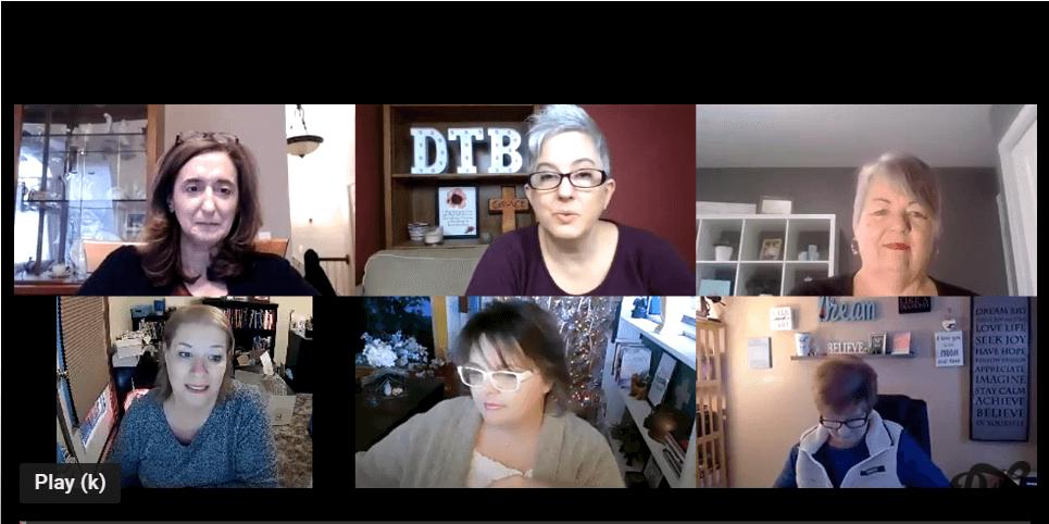 Women in a zoom meeting