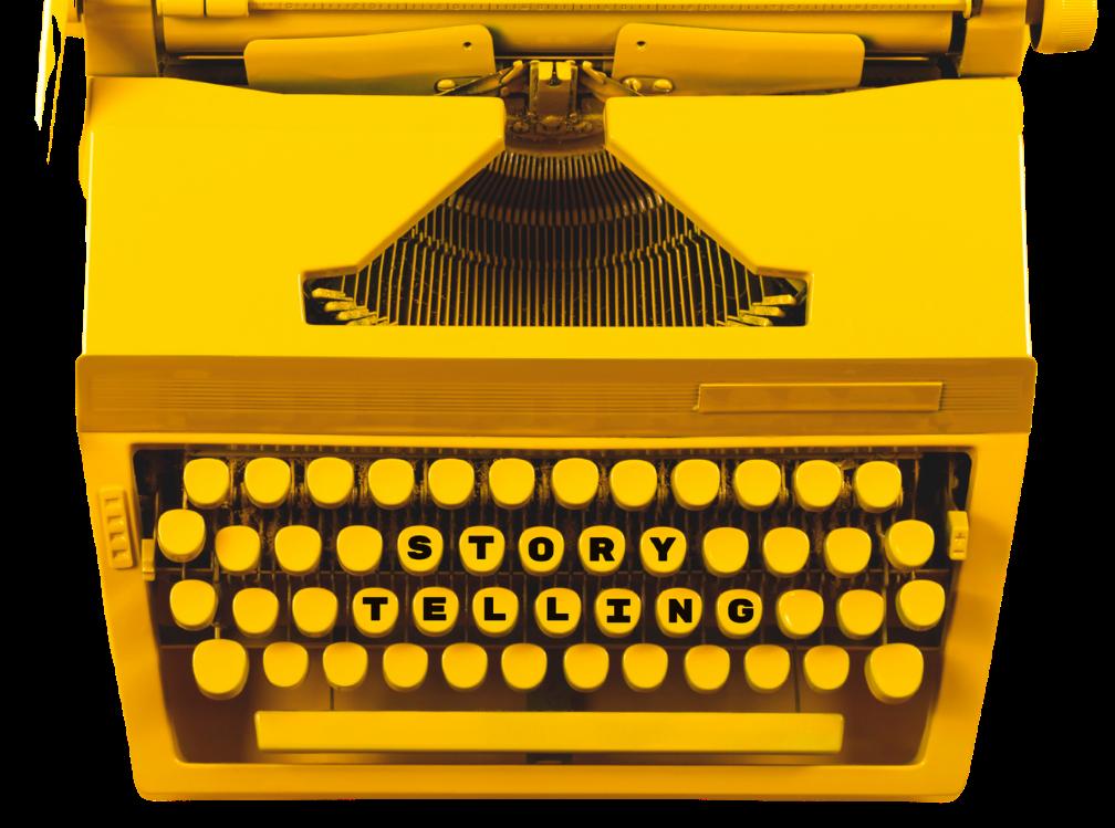 storytelling type writing machine