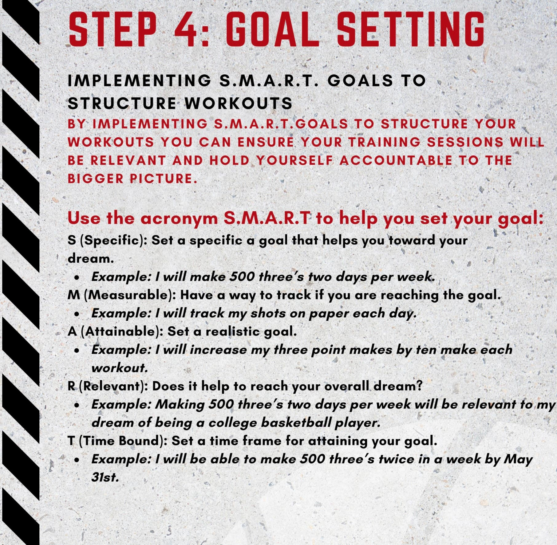 Goal Setting is a Key Step in Basketball and LIFE