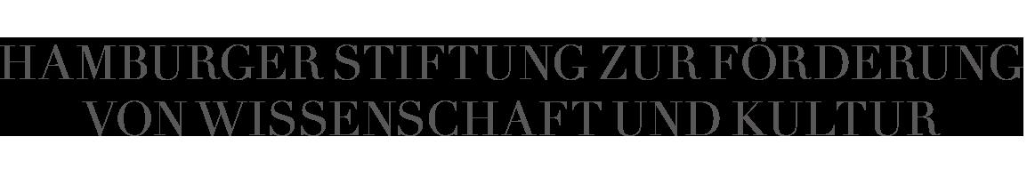 Logo Hamburger Stiftung zur Förderung von Wissenschaft und Kultur