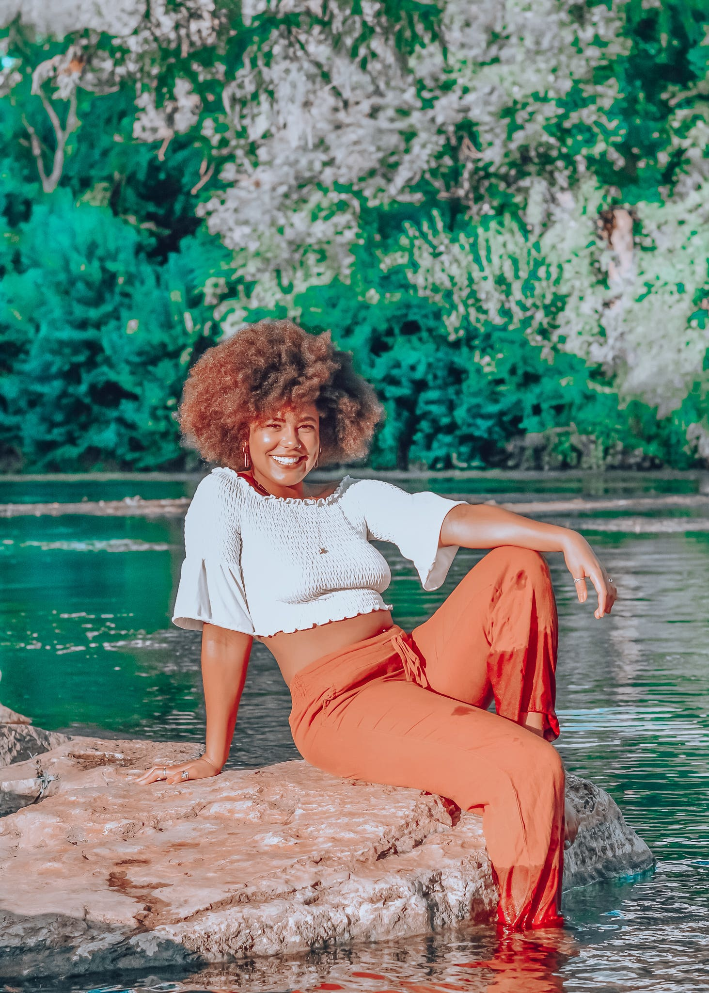Pretty Girl in the Blue River