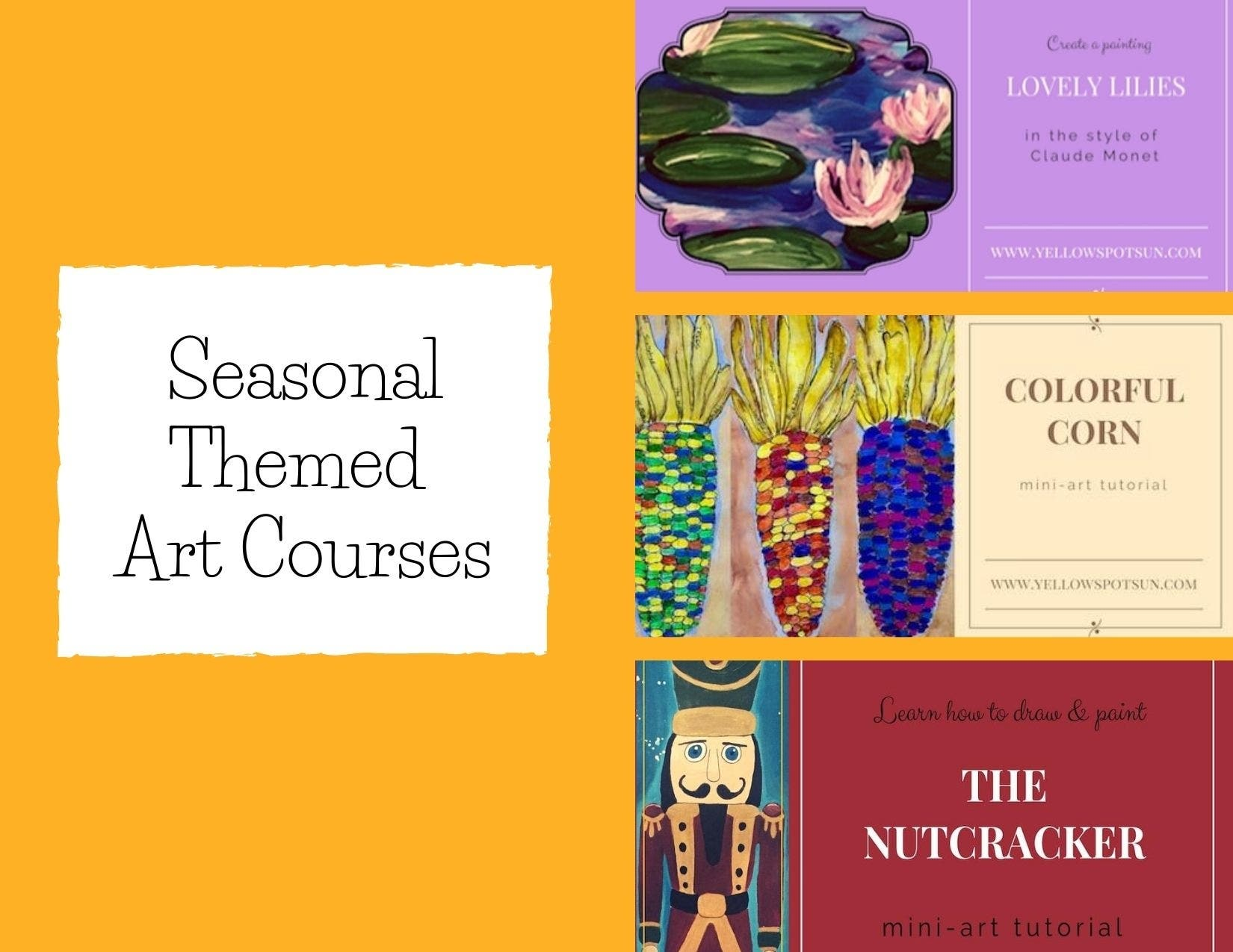 Seasonal Themed Art Courses