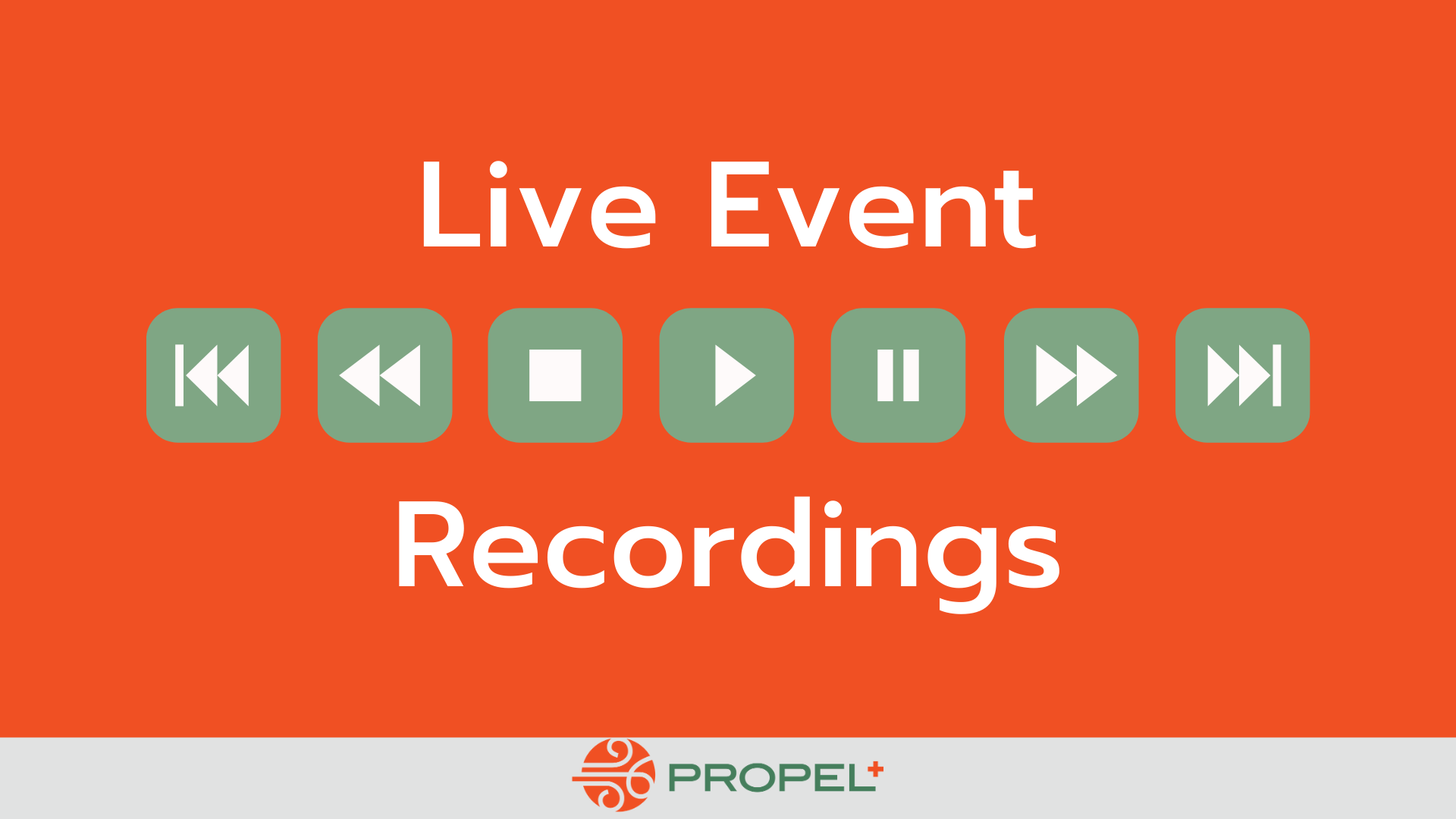 Live Event Recordings