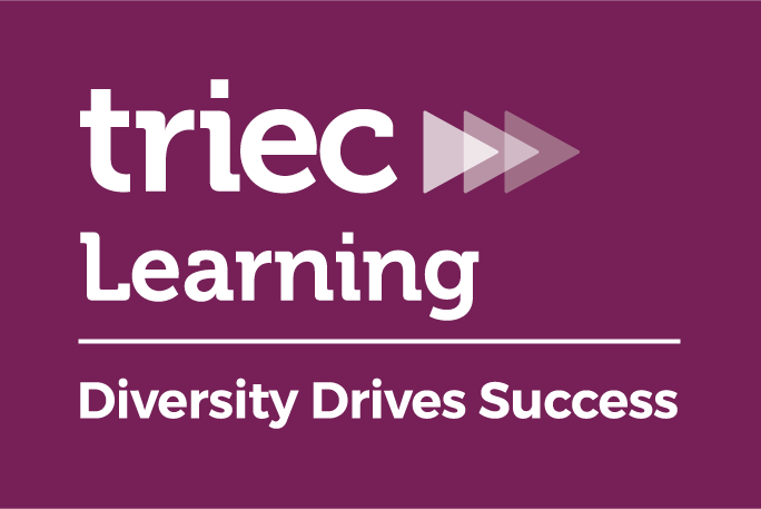 The logo for TRIEC Learning depicts three triangles in a row pointing towards the right.