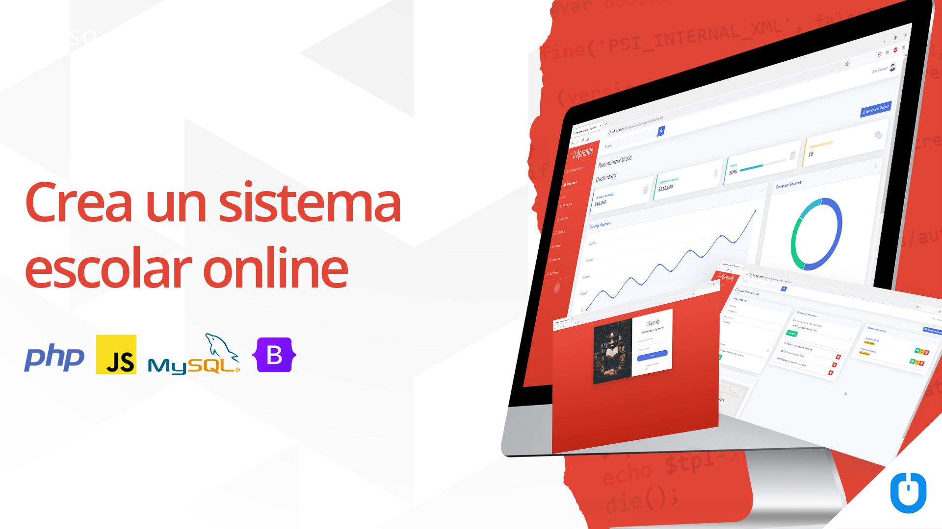 Sistema escolar online.