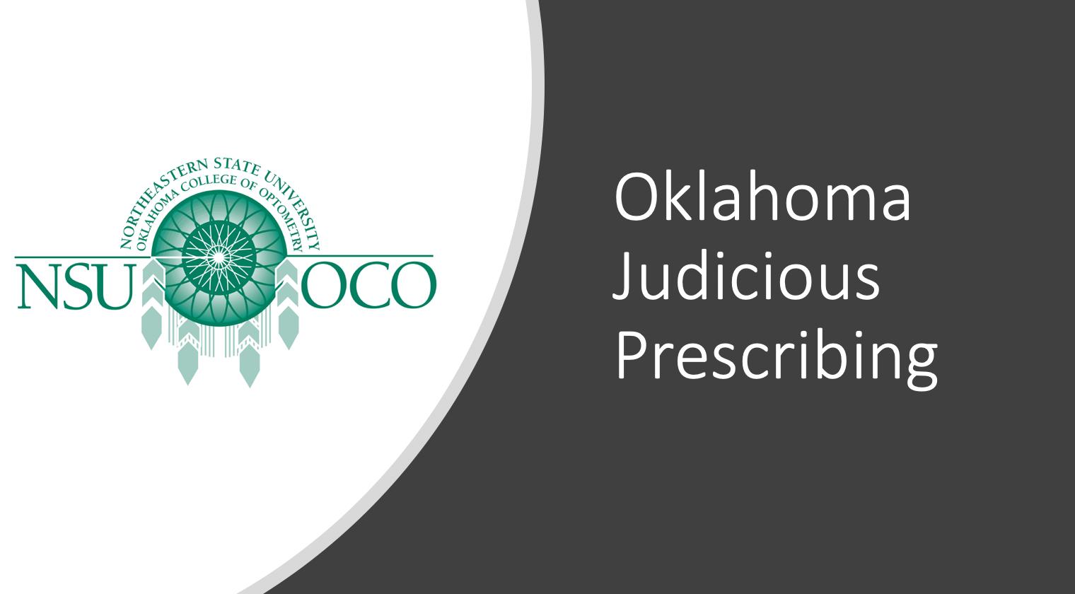 Oklahoma Judicious Prescribing