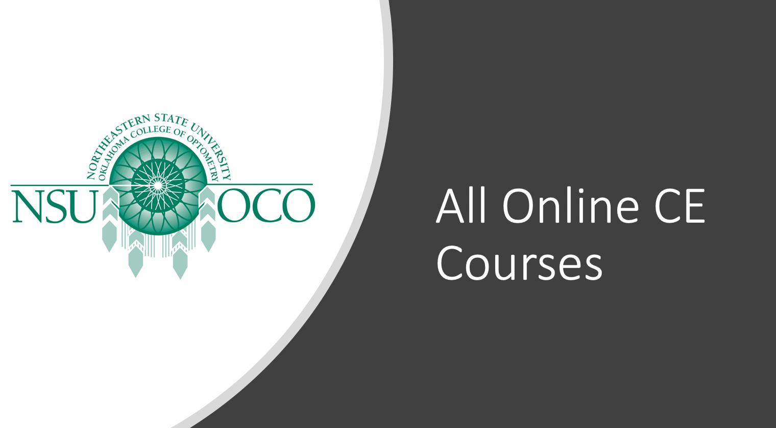 NSUOCO Online CME Program