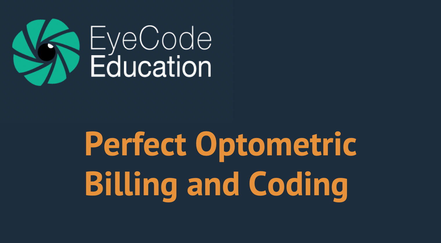 EyeCode: Billing and Coding