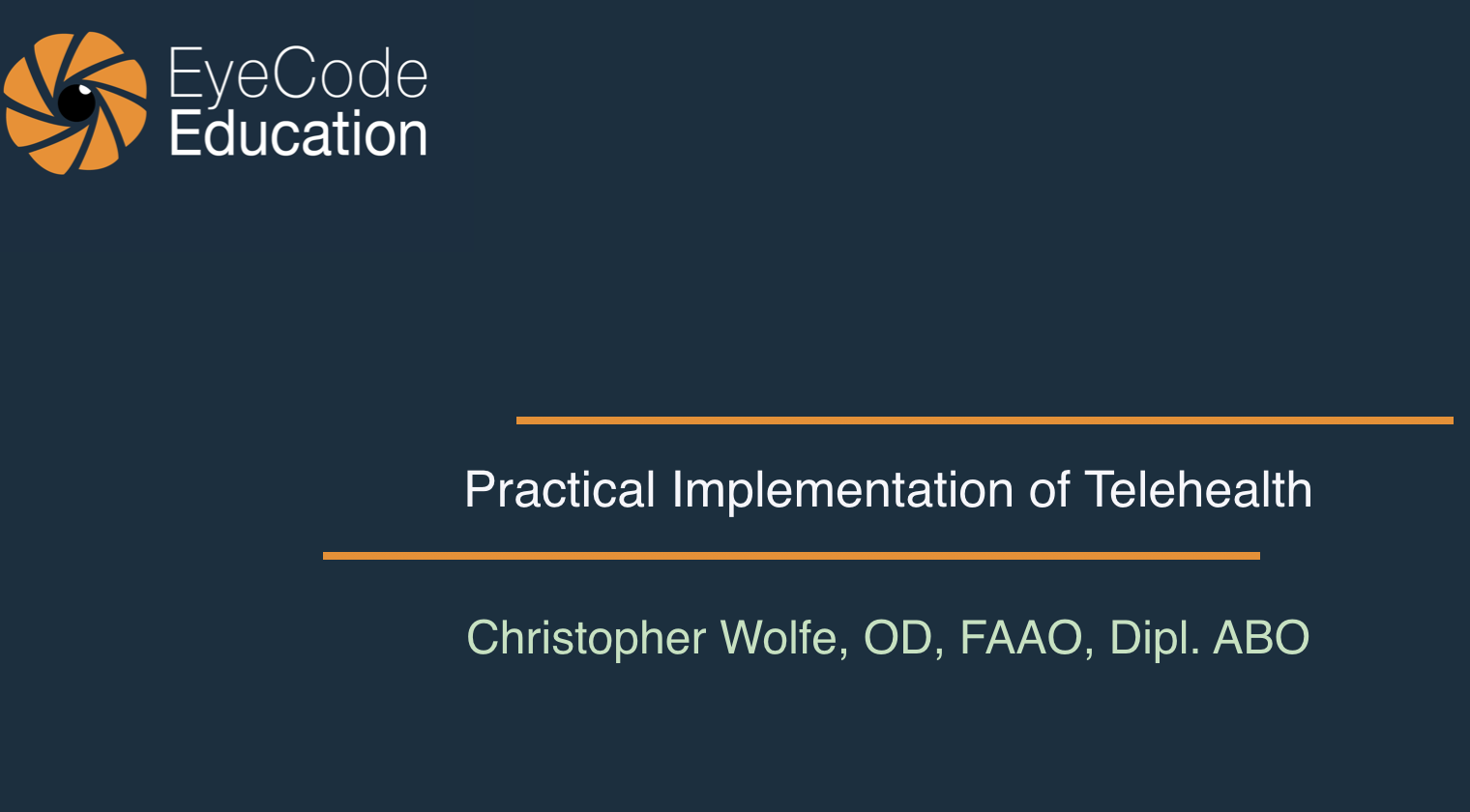 Practical Implementation of Telehealth Services in Eye Care