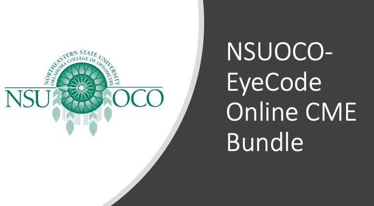 NSUOCO-EyeCode CME Bundle