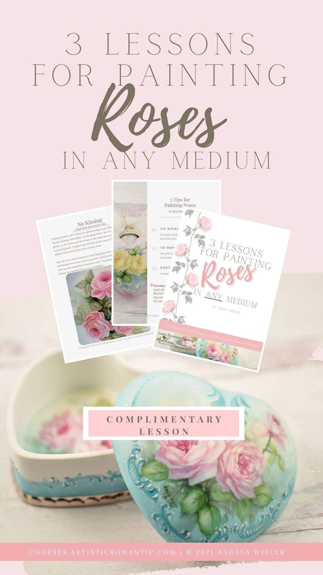 Rose Painting Lesson All Mediums Free Tips