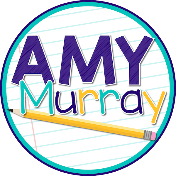 circle logo that reads Amy Murray with a pencil image