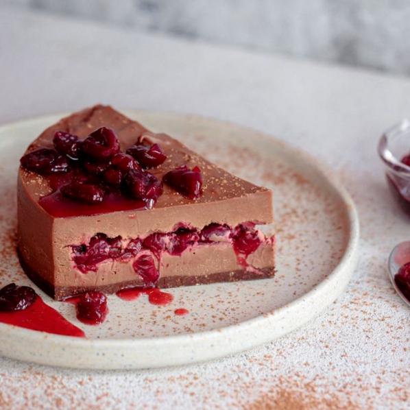 Chocolate Cherry Cream Cake with Cherry Jam