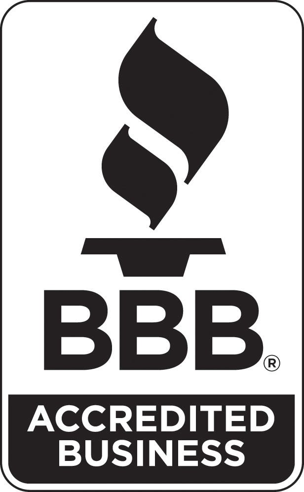 Our company is A rated and Accredited with the Better Business Bureau