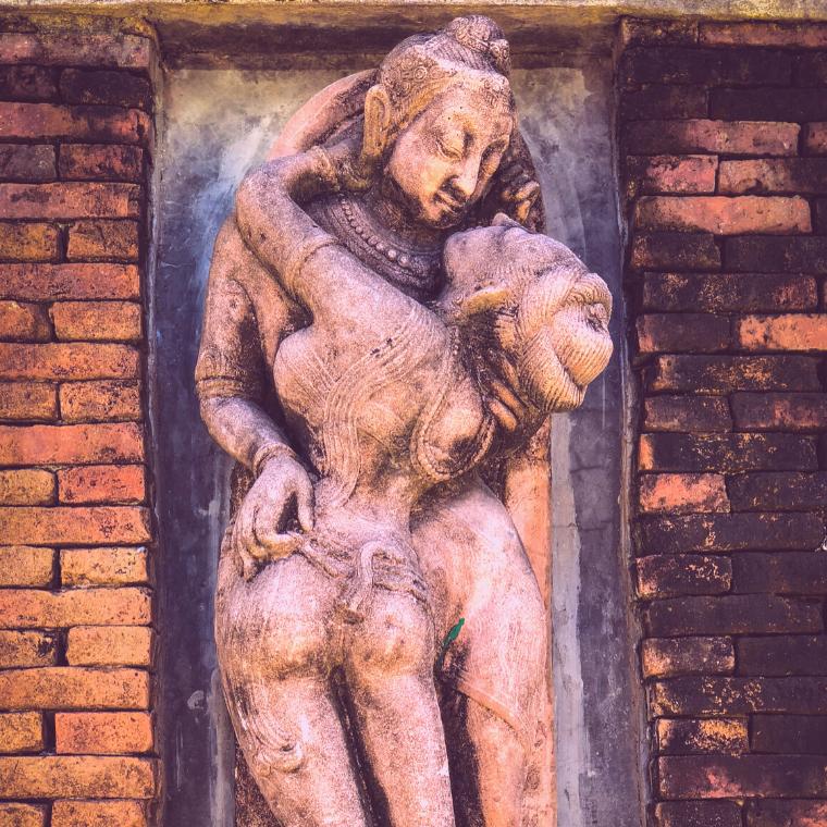 A representation of a tantric couple