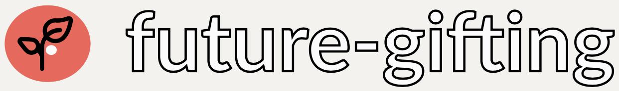 Future-gifting logo burnt orange and leaf