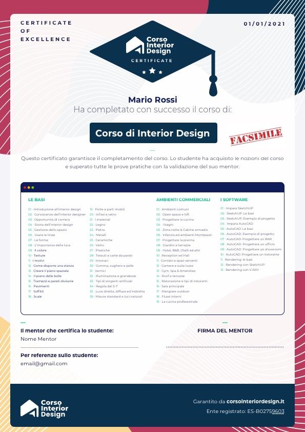 certificazione interior designer
