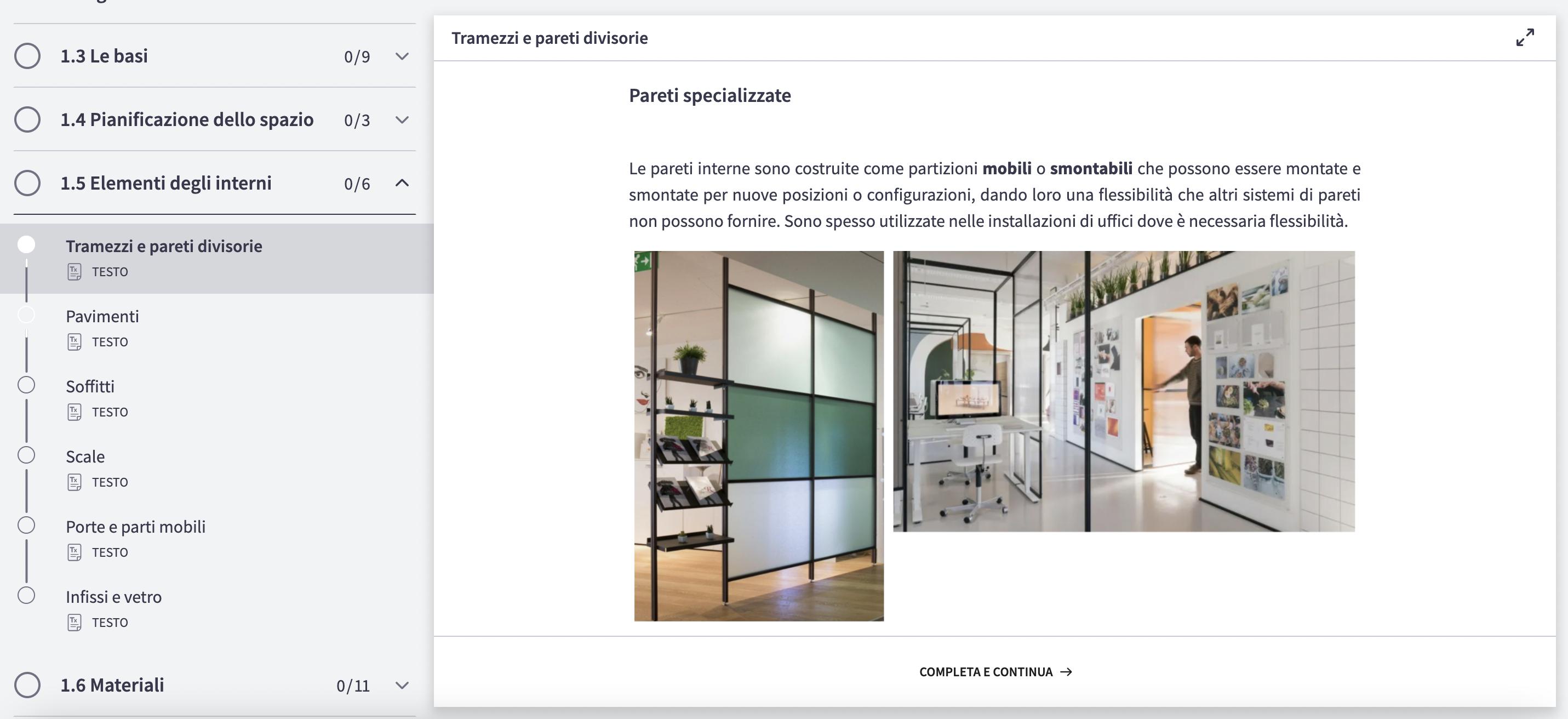 corso di interior design online