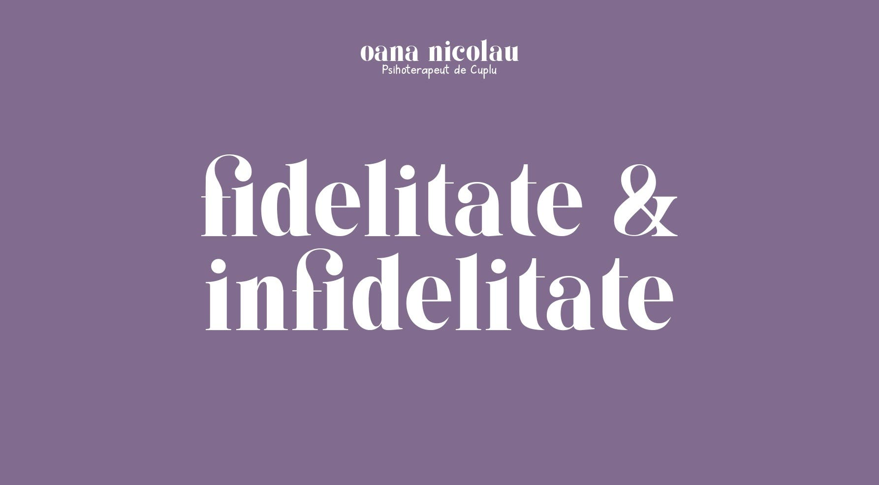 Fidelitate si infidelitate