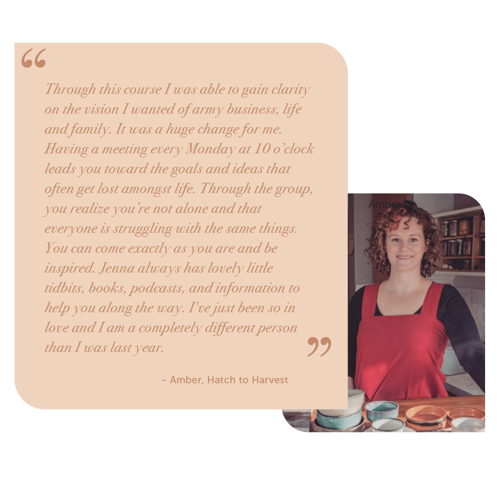 Testimonial from Amber, Hatch to Harvest