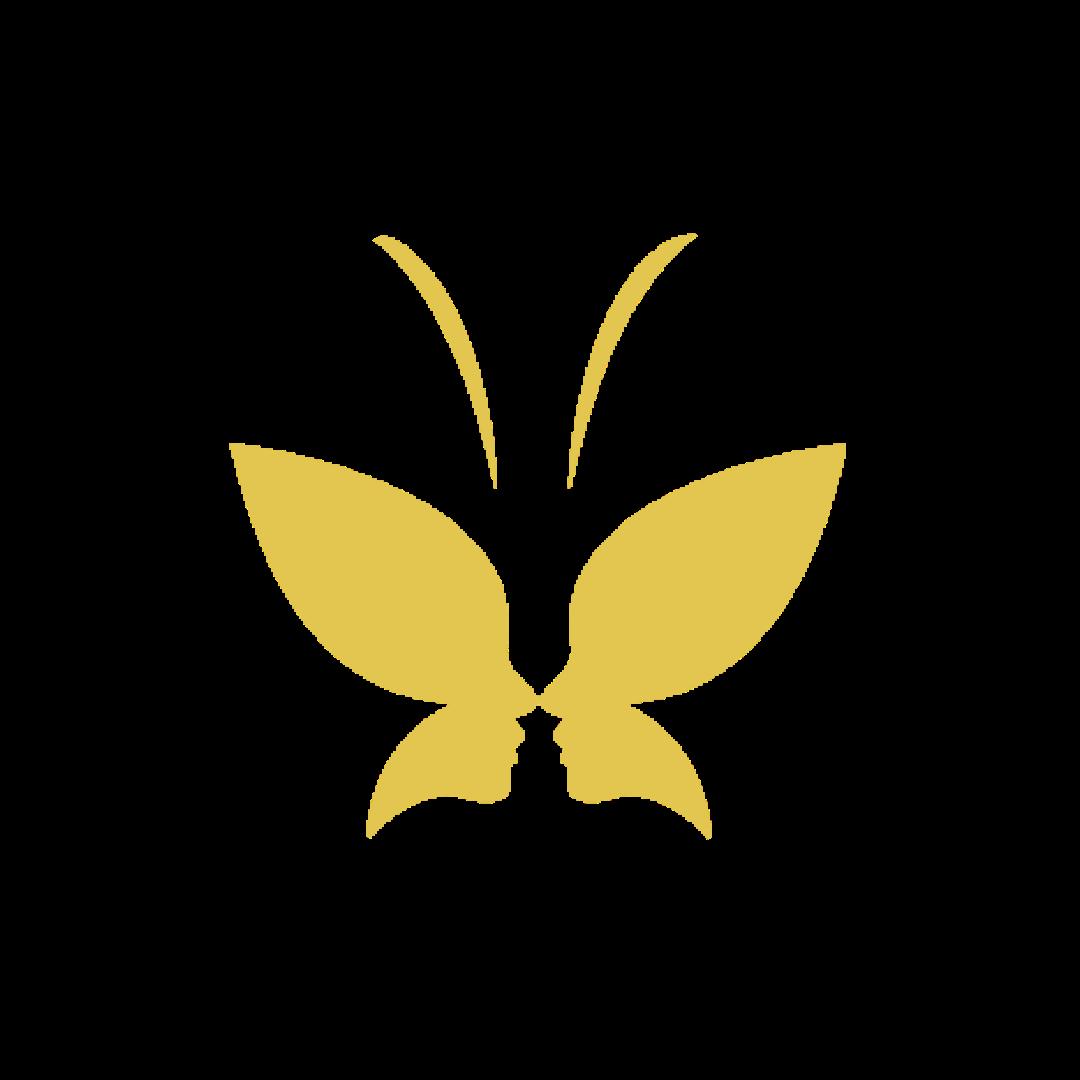 butterfly metamorphosis logo