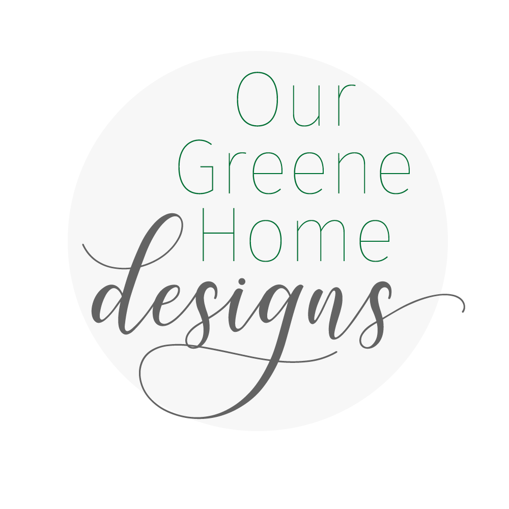 Logo design - round circle with Our Greene Home Designs
