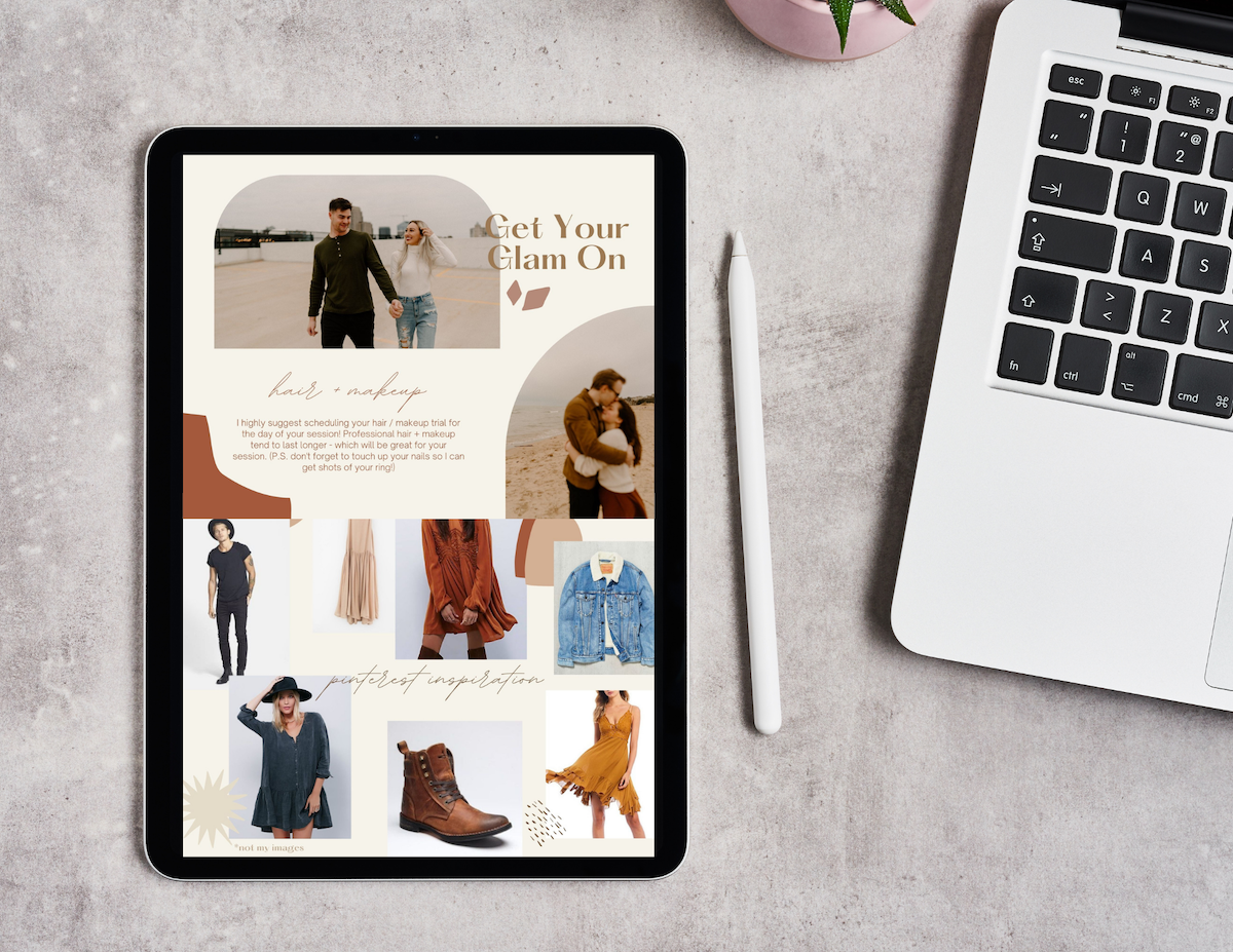Outfit Guide Template for Photographers