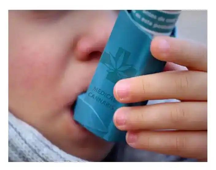 boy with cannabis inhaler