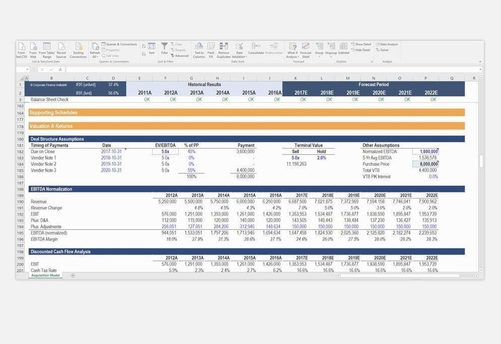 Financial Modeling Templates thumbnail
