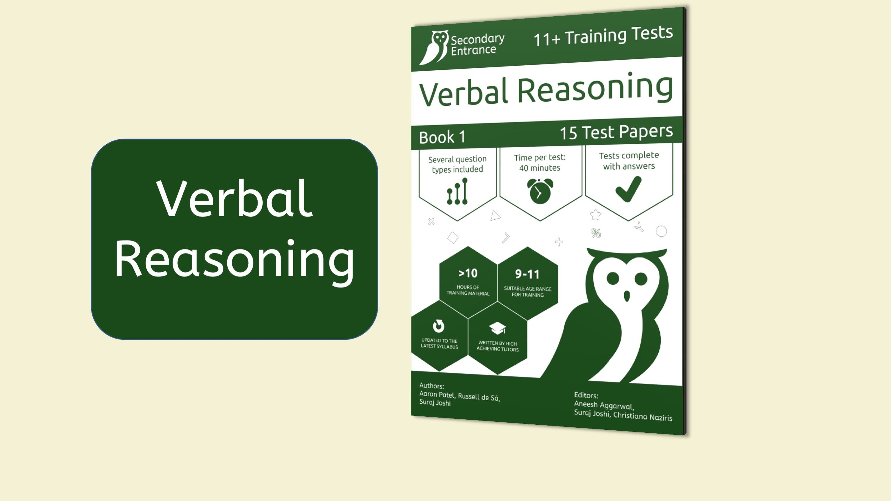 Verbal Reasoning Only Courses