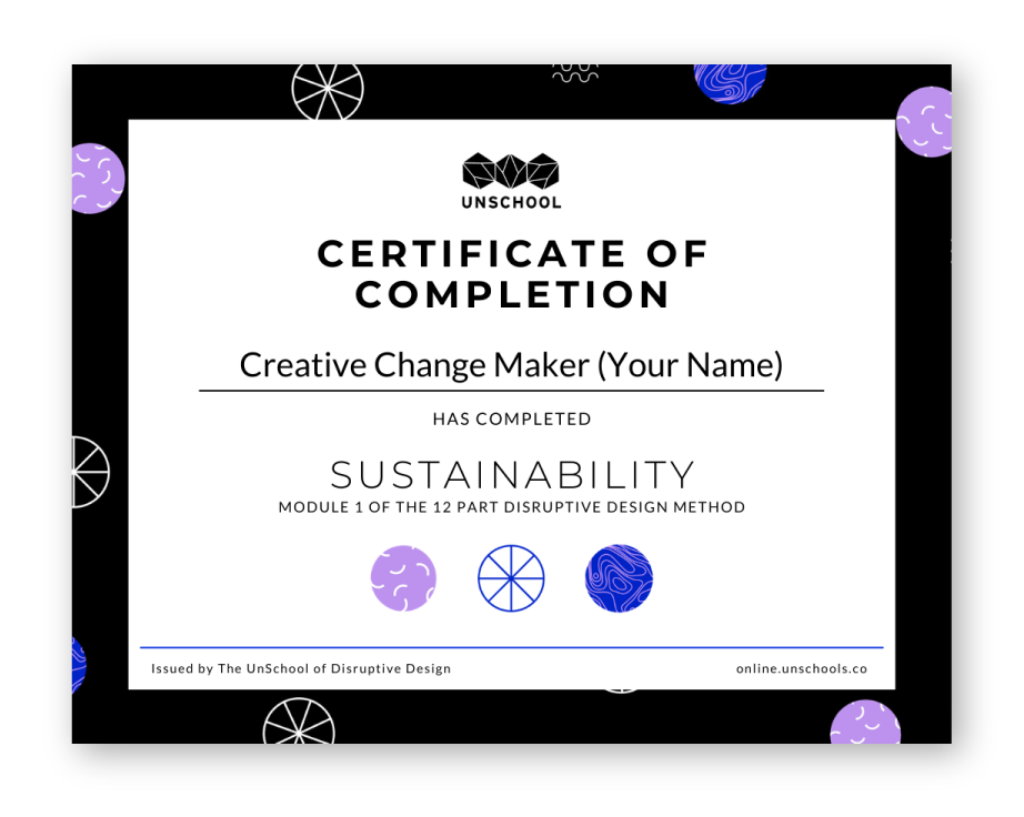 Sample of certificate of completion