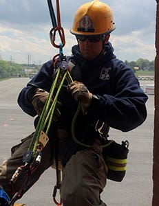 Firefighter with the Loudoun County, VA Fire Rescue department